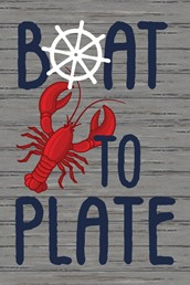 Boat to Plate 12x8 Indoor/Outdoor Recycled Polystyrene Wall Art
