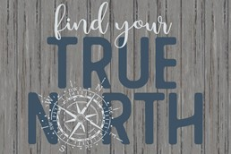 Find Your True North 12x8 Indoor/Outdoor Recycled Polystyrene Wall Art