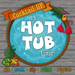 Hot Tub Time 12x12 Indoor/Outdoor Recycled Polystyrene Wall Art